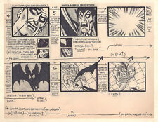 Super Friends Storyboard - Dracula turns Superman into Vampire '78 by Alex Toth