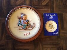 Mj Hummel Goebel 1975 fifth anniversary collector plate