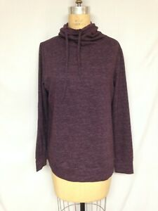 32 Degrees Fleece Quilted Funnel-Neck Top TLF82572ME Eggplant L NWT $46