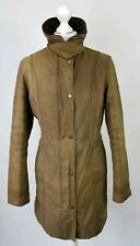 L526 WOMENS BARBOUR BELSAY BROWN LONG WAXED JACKET, UK 10
