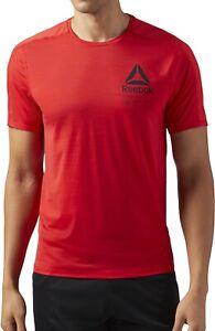 Reebok ActivChill Graphic Short Sleeve Mens Training Top - Red