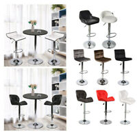 3 PCS Counter Height Dining Set Bar Table W/ 2 Stools Kitchen Pub Bar Furniture