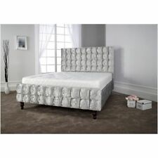** Crushed Velvet New  Bed with Headboard and Footboard**