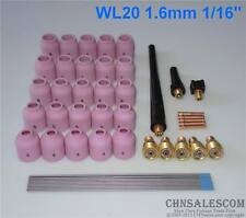 48pcs TIG Welding Kit Gas Lens for Tig Welding Torch WP-9 WP-20 WP-25 WL20 1/16""