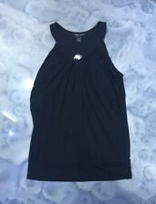 White House Black Market Black Blouse/Top w/Metal Womens Silver Size M Medium