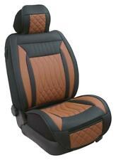 Skoda Fabia III ab 11.14 Sitzaufleger Autositzauflage Lederimitat Kairo cognac