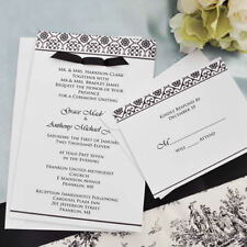 Black & White Damask Design Invitation Kit DIY