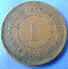 Straits Settlements   1 cent one cent 1897 Queen Victoria KM# 16
