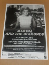 MARINA AND THE DIAMONDS - rare tour concert / gig poster - jun 2012 -