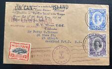 1936 Niuafoou Tonga Toga Islands Tin Can Mail Cover To Auckland New Zealand