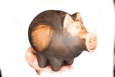 Handmade piggy money box Ceramic coin Farm figurine Bank Baby gift