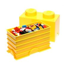 LEGO STORAGE BRICK 2 YELLOW CHILDRENS TOY STORAGE CONTAINER BOX NEW