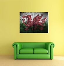 Welsh Wales Flag Arty Giant Art Print Poster