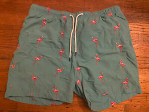 Tommy Bahama Relax Men's Embroidered Flamingo Swim Trunks Size XL
