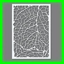 Stencil / Flex- Schablone - Blätter - DIN A5 / 1 teilig - Scrapbooking