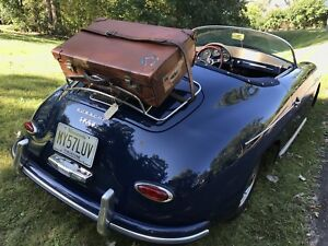 VTG 1930's BRITISH MADE SADDLE LEATHER CAR RACK TRAVEL STICKER SUITCASE R$3595