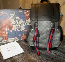 Gucci GG Supreme Bestiary Tigers Backpack NEW