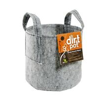 10pc 5 Gallon Dirt Pot Fabric Planter, Grey, W/ Handles SAVE $$ W/ BAY HYDRO $$
