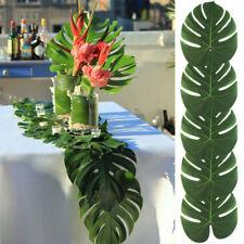 "12pcs 8"" Tropical Imitation Plant Leaves Hawaiian Party Jungle Beach Theme Decor"