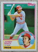 JOHNNY BENCH 1983 TOPPS BASEBALL CARD #60 CINCINNATI REDS HOF NM-MT CONDITION