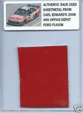 CARL EDWARDS 2008 OFFICE DEPOT FORD AUTHENTIC NASCAR RACE USED SHEETMETAL #3