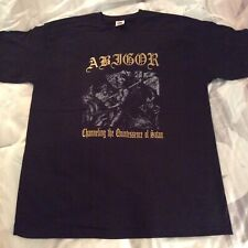 ABIGOR Channeling Shirt XL, The Chasm, Urfaust, Urgehal, lnquisition,Windir,Absu