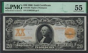 Currency (US) - Fr#1184 $20 1906 Gold Certificate - AboutUnc55 FrCatVal $3000.00