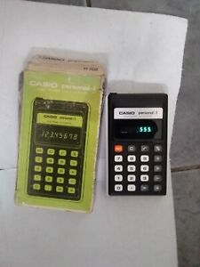 Vintage 1970s Casio Calculator, with box