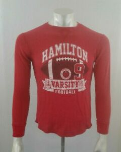 The  Place Boys Waffle Red Long Sleeve Crew Neck T Shirt Size XL