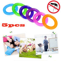 5PCS Anti Mosquito Insect Repellent Wrist Hair Band Bracelet Camping Outdoor