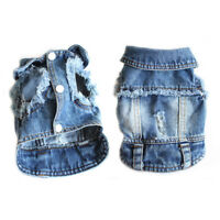 Small Dog Vest Jean Jacket Soft Denim Coat Clothes for Pet Cat Puppy apprael New