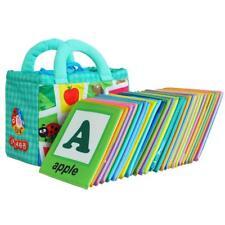 Tarjetas para niños de tela Juguetes de libro con patrón de Aprendizaje y