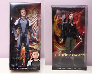 Barbie  Hunger Games KATNISS & Catching Fire PEETA Doll black label-read pleas