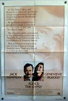 Genevieve Bujold Jack Lemmon Original 1970s 1Sh Poster Alex & the Gypsy