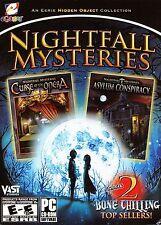 Nightfall Mysteries CURSE OF THE OPERA + ASYLUM CONSPIRACY Hidden Object PC NEW