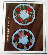Christmas Machine APplique Hoop Wreath Pattern Fruit & Candy Canes