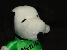 METLIFE INSURANCE PEANUTS SNOOPY DOG NEON GREEN SOCCER JERSEY ADVERTISING PLUSH