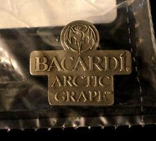 BACARDI ARCTIC GRAPE RUM PIN Metal The Bat Promotional Promo Alcohol Shirt Hat P