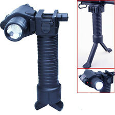 Tactical Rifle Foldable Foregrip Bipod + Red Laser Sight&CREE LED Flashlight 74