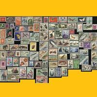 LOT 100 TIMBRES POSTE DE LA COMMUNAUTE FRANCAISE ANNEES 1940 A 1970 NEUFS **