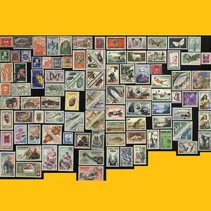 LOT 100 TIMBRES POSTE DE LA COMMUNAUTE FRANCAISE - ANNEES 1940 A 1970 NEUFS **