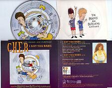 MAXI CD CHER WITH BEAVIS AND BUTT-HEAD I GOT YOU BABE 2T DE 1993 + STICK RARE !!