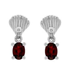 Garnet Diamond Earrings .925 Sterling Silver 1.92 ctw Brand New ss