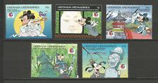 Walt Disney les Grenadines 5 timbres anciens non oblitérés /T4366