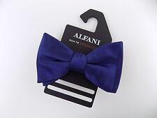 """ALFANI $60 Blue Solid MEN WIDTH 2.5"""" POLYESTER Bow Tie ADJUSTABLE BIG SALE Y16"""