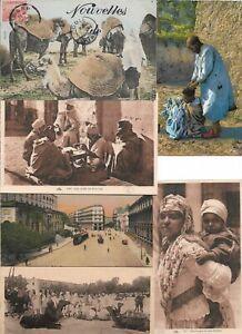 Algeria Alger Bou Saada Camels Donkeys Minaret Postcard Lot of 18 L2