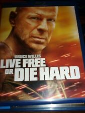 Live Free Or Die Hard - Blu-Ray Disc - Very Good Condition!