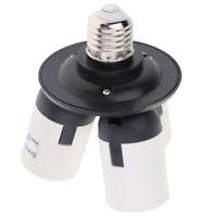 E27 3 In1 Base Socket Splitter Light Lamp Bulb Adapter Holder Black White