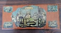 """Wood Plaque of Dogs Playing Poker 5 x 11 1/2"""""""