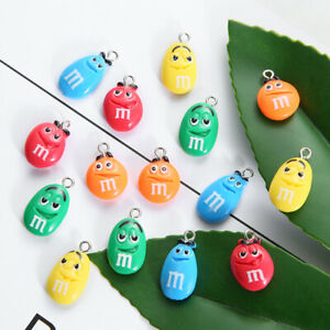10pcs Chocolate Beans Resin Charms Cute Pendant Earring DIY Fashion Jewelry